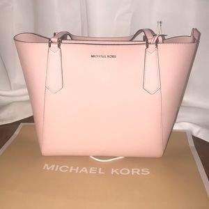 NWT Michael Kors Kimberly Tote Pastel Pink LG